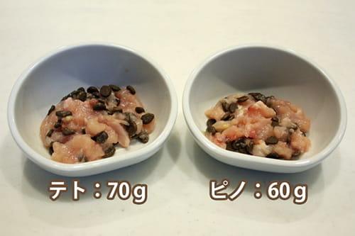 ベンガル猫に生肉を与えるときの食事の量