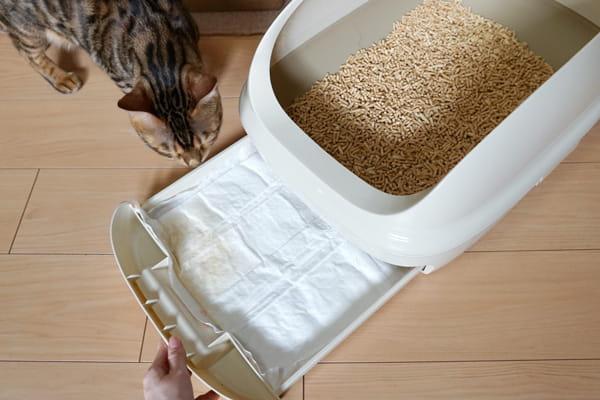 猫用システムトイレ『ニャンとも清潔トイレ』の仕組み