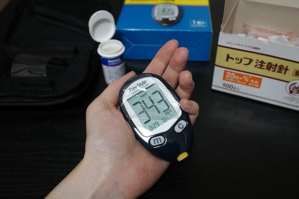 血糖値測定とプロジンク投与